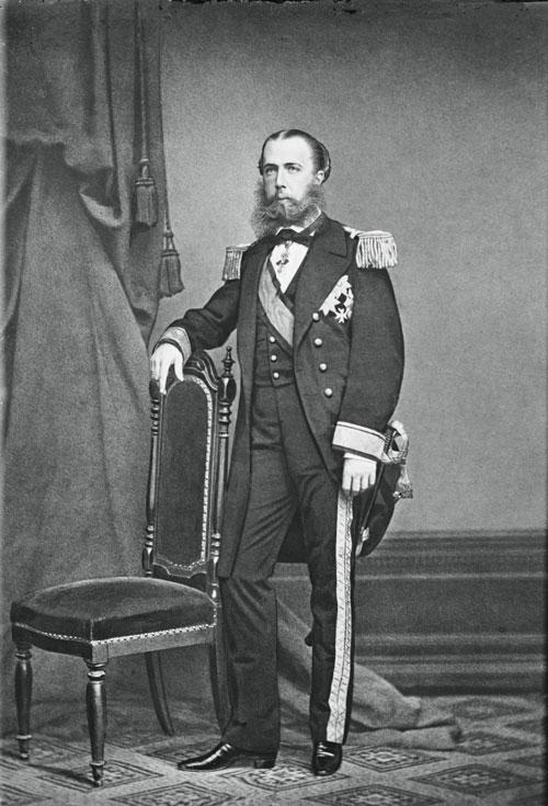 Retrato de Maximiliano I de México, Andrew Burgess, ca. 1864.