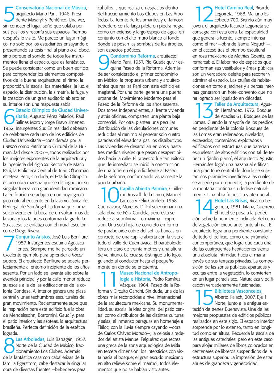 Listas Fundamentales de la Cultura Mexicana-Arquitectura 2