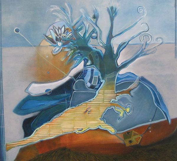 Mente-agua, óleo / tela, 112 x 131, 2007.