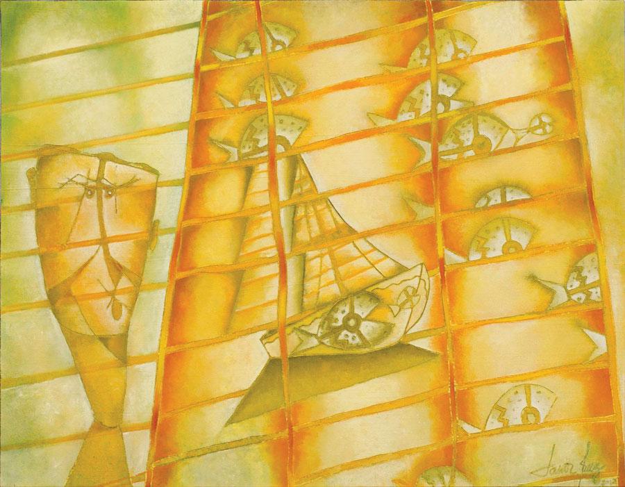 El velero, óleo sobre lino, 140x180, 2012.