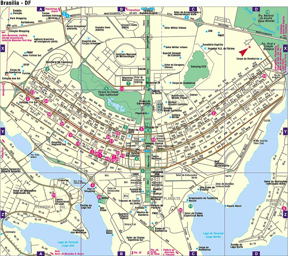 Mapa de Brasilia, Brasil