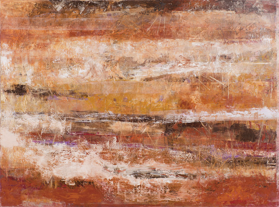 Ocres y dorados, óleo sobre lino, 150 x 200, 2013.
