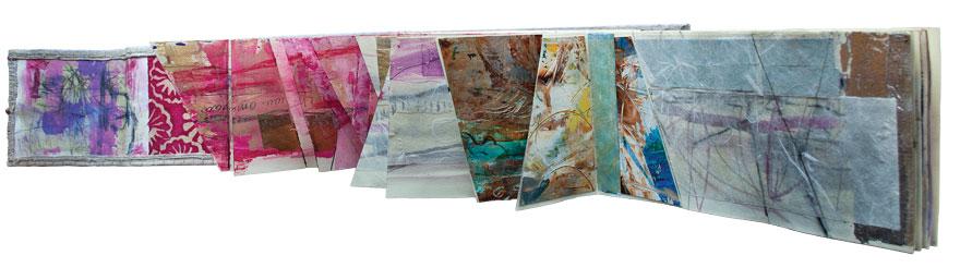 Cuaderno de apuntes, mixta sobre papel, 14 x 92 (abierto), 2012-2013.