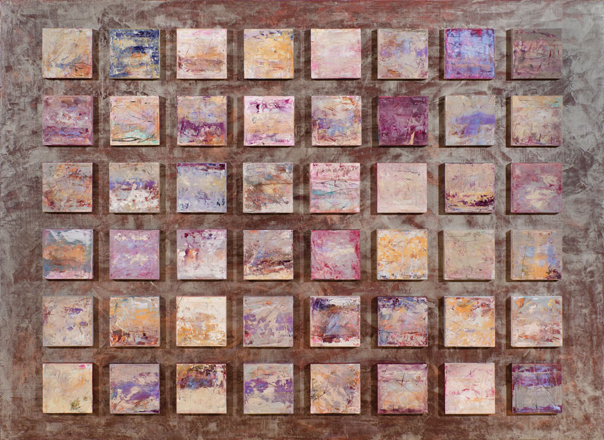 Campo abierto, (48 piezas), óleo sobre lino, 135 x 185, 2013.