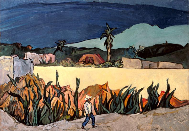 La barda amarilla, óleo sobre tela, 1983, Pablo O´Higgings.