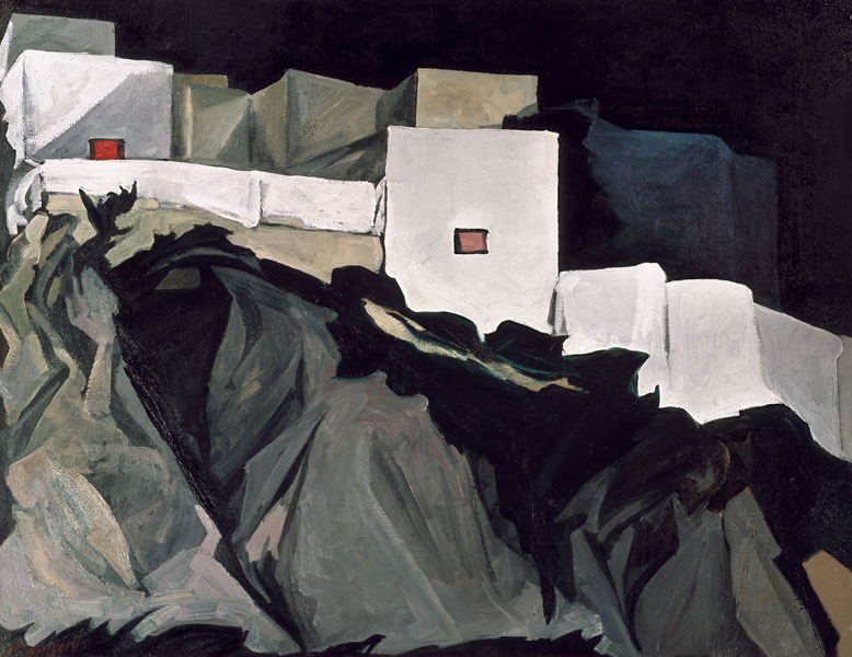 Paisaje nocturno de Guanajuato, óleo sobre lino, 1968, Pablo O´Higgings.
